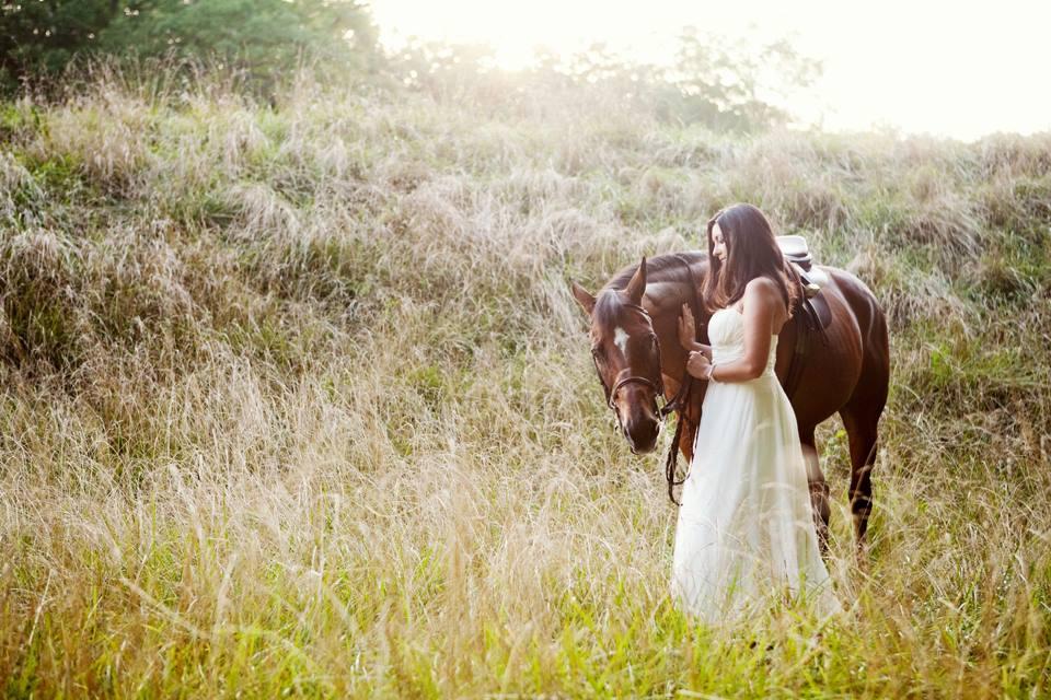 Woodland Princess Bride Wedding