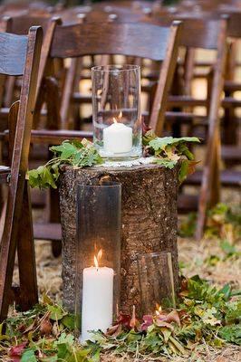 wedding eleopment chairs and logs