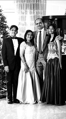 Aarav, Anoushka, Charmaine and Sudhir Shenoy