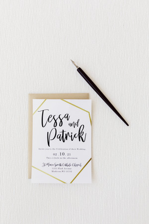 Black and Gold Wedding Invitation Suite