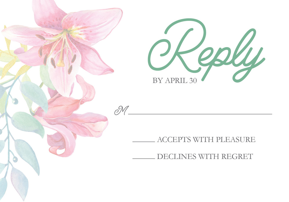 Floral Reply