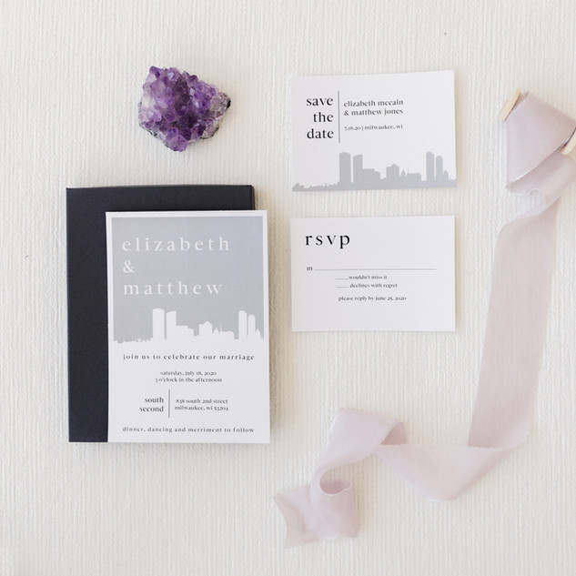 Skyline Wedding Invitation Suite