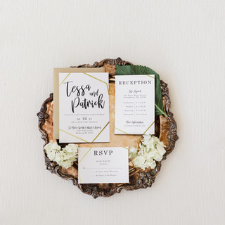 Black and Gold Wedding Invitation Suite