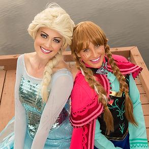 Frozen character apperance, Elsa and Anna.