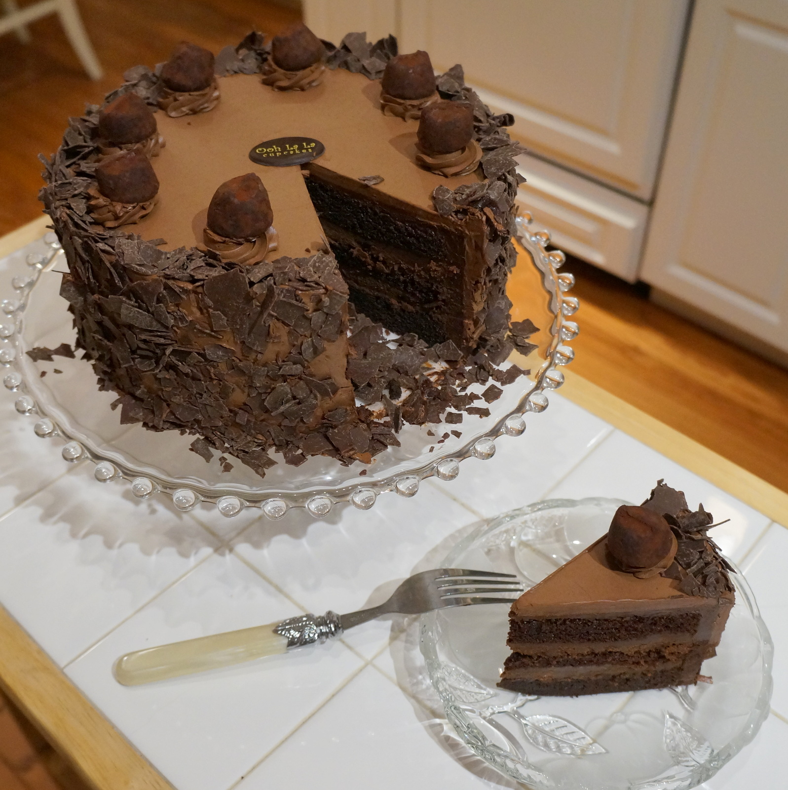Chocolate Cake With Chocolate Ganache Filling
