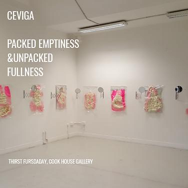Installation view 'Packed Emptiness. Unp
