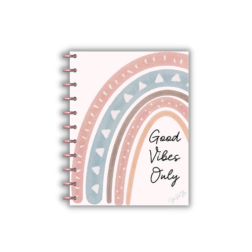 2021 Good Vibes Only Vertical Lines Charmazing Planner