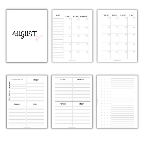 Vertical Lines  Planner Inserts