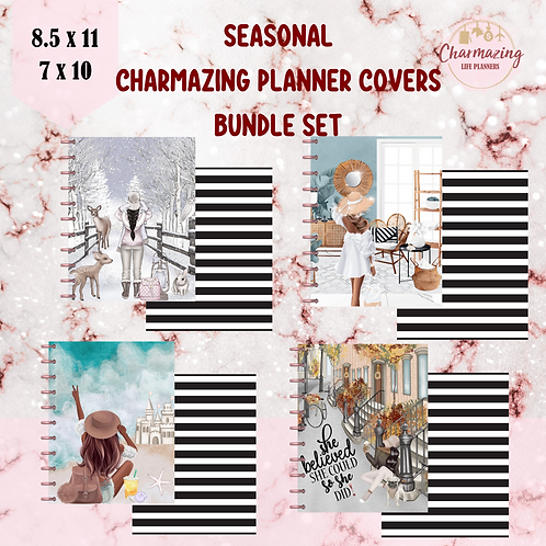 Seasonal Charmazing Planner Covers Bundle Set
