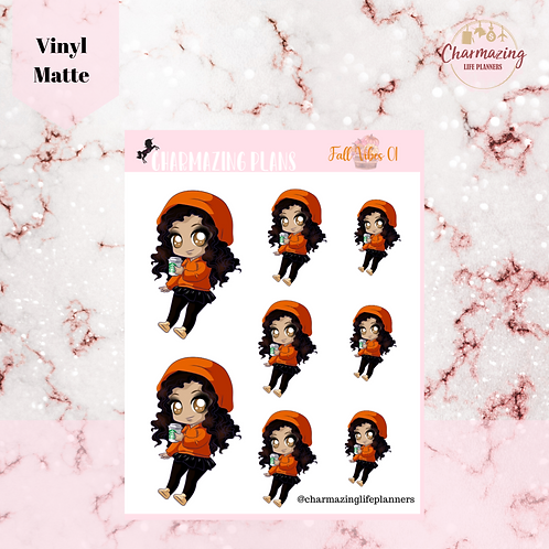 Fall In With Mya Sticker Set