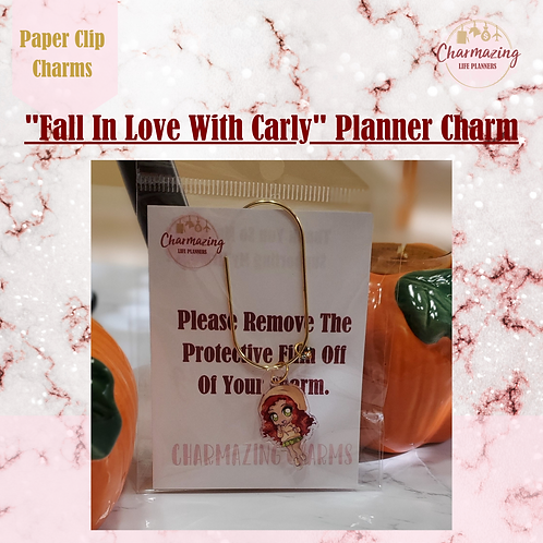 """Carly"" Planner Charm"