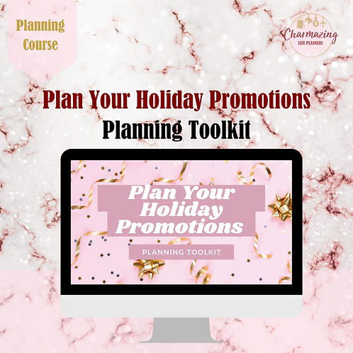 """""""Plan Your Holiday Promotions"""" Planning Toolkit"""