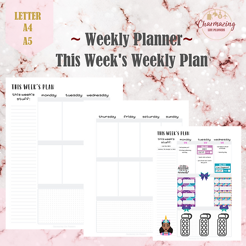 This Week's Plan Weekly Planner