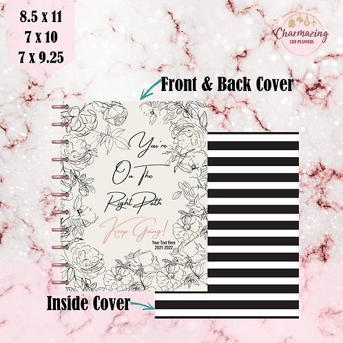 """""""You're On The Right Path """" Planner Cover Set"""