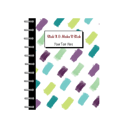 Sticky Note Notebook - Purple & Teal