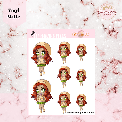 Fall In With Carly Sticker Set