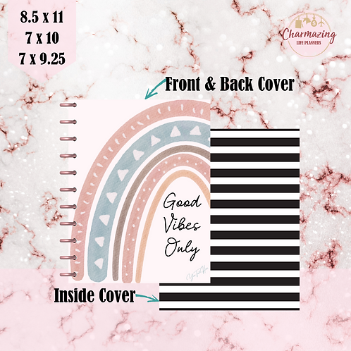 """""""Good Vibes Only"""" Planner Cover Set"""