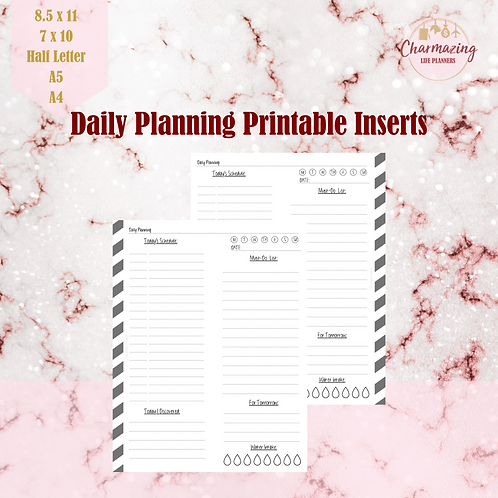 Daily Planning Printable Inserts