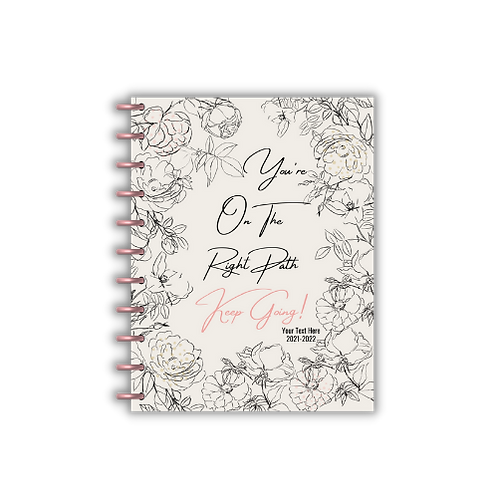 2021 You're On The Right Path Vertical Lines Charmazing Planner