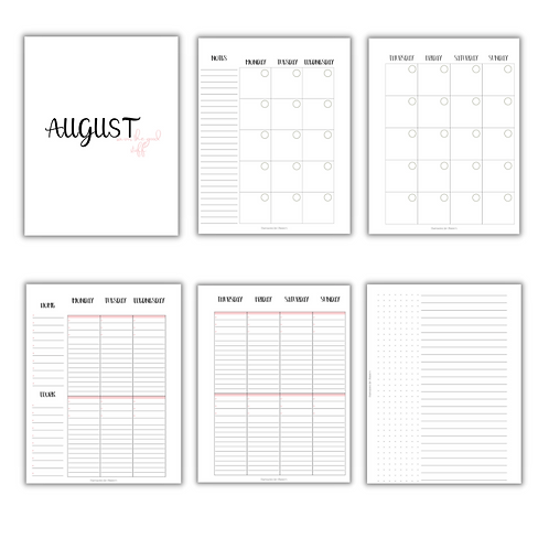 Vertical Duo Home & Work Planner Inserts