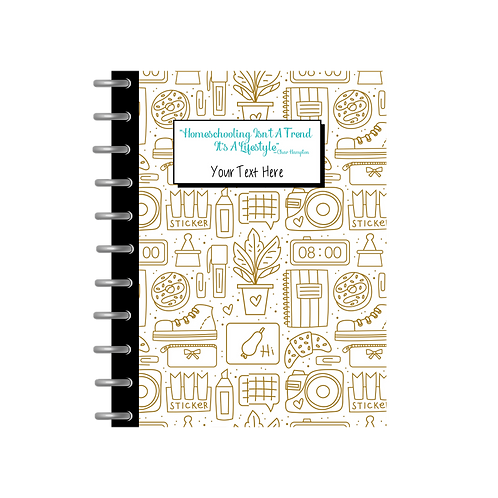Homeschool Notebook - Gold