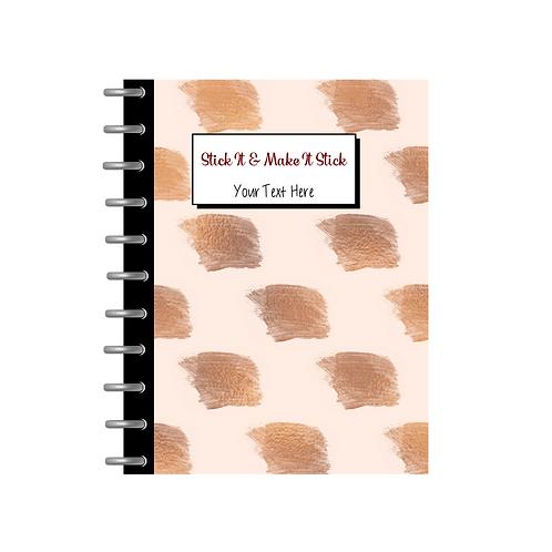 Sticky Note Notebook -Gold