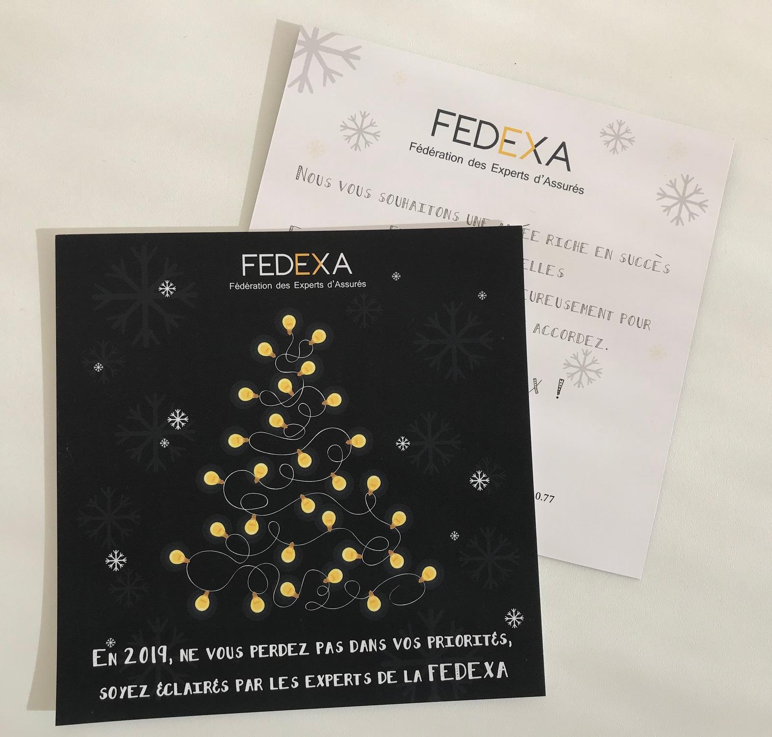 Carte de voeux FEDEXA