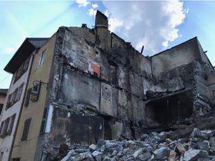 Incendie d'un quartier complet à FAVERGES (74)