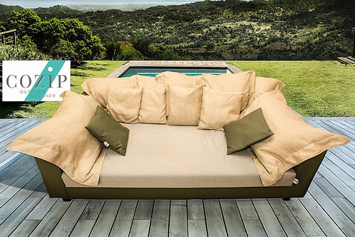 MATTEA | Canapé extérieur |  200 x110, assise 38, dossier 60 cm