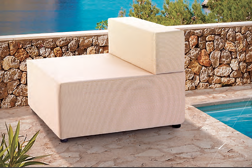 SERENA | Fauteuil outdoor | 80x80, assise 38, dossier 25 cm
