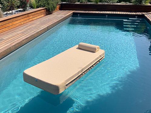 VERDE | PoolBed beige | 180x74xh18 cm