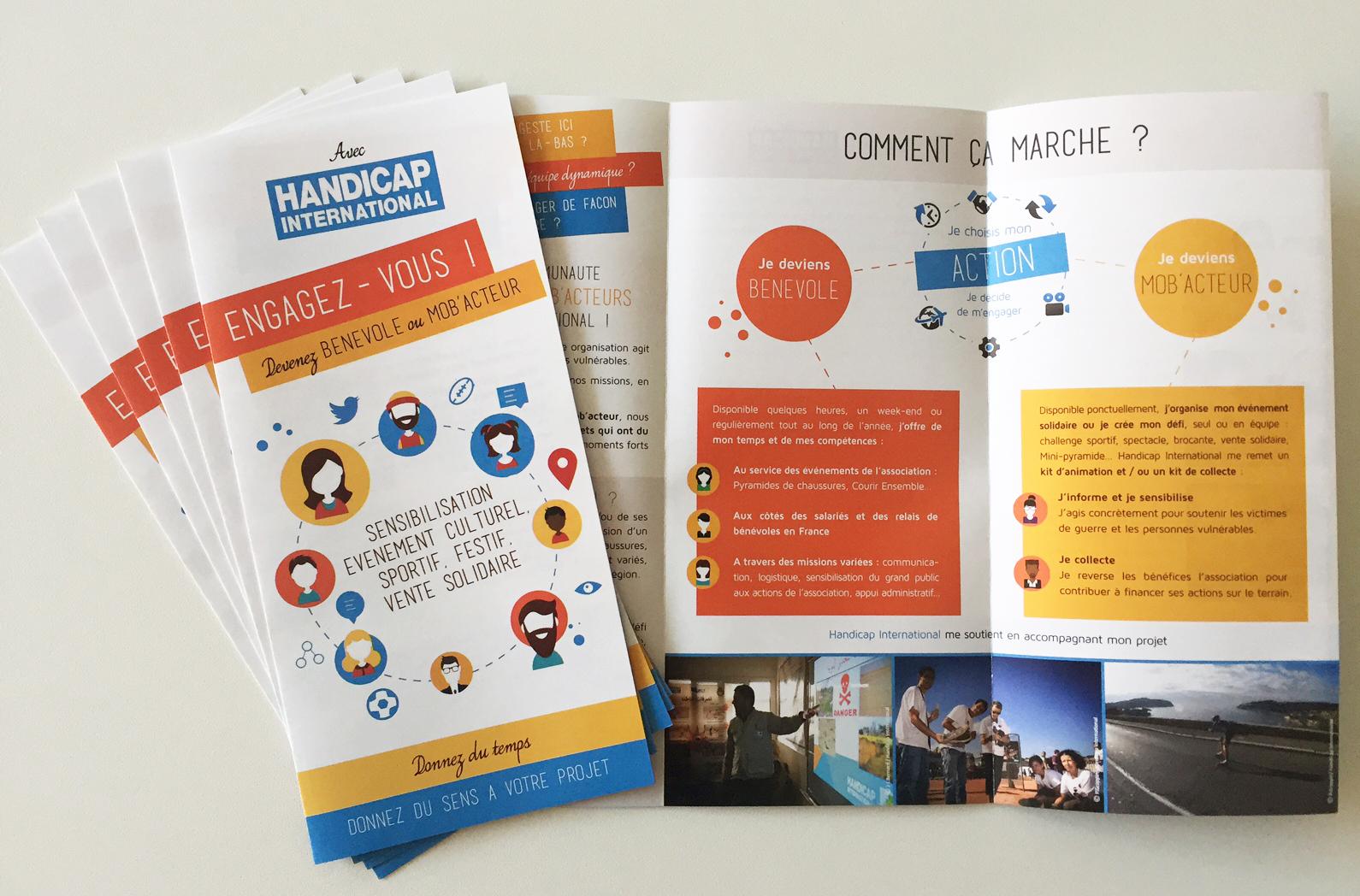 Plaquette HANDICAP INTERNATIONAL