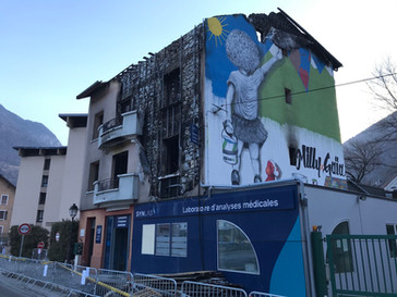 Incendie d'immeuble d'habitation à MOUTIERS (73)