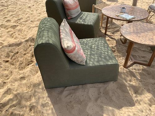 BAMBOU | Fauteuil extérieur | 76x60, assise 38, dossier 38 cm