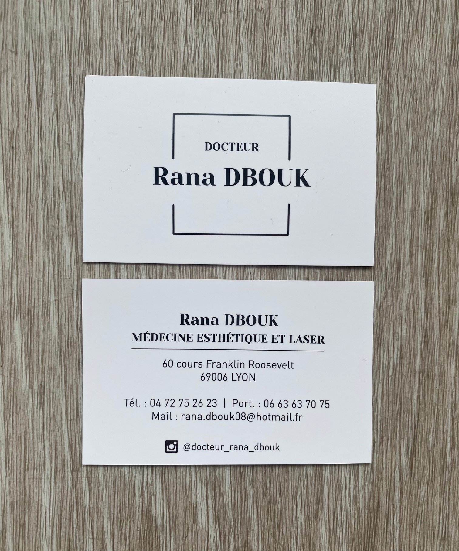 Carte de visite Docteur DBOUK