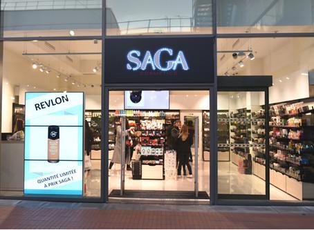 Saga Cosmetics : un écran en vitrine dope de 6% le nombre de visiteurs en magasin