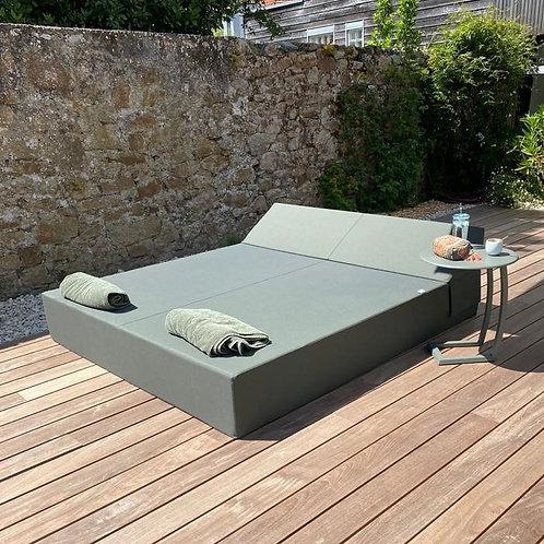 DOUBLE BED NANTES  | Bed de Plage et Piscine | 200x180xh30 cm
