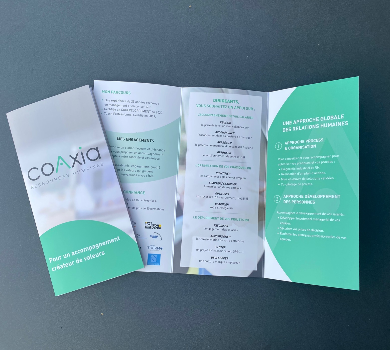 Flyer COAXIA by essens consulting