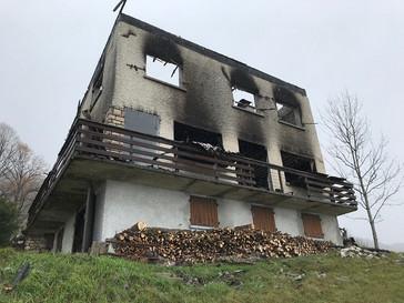 Incendie d'habitation à ANGLEFORT (01)
