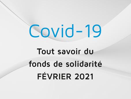COVID-19 : Tout savoir du fonds de solidarité - février 2021