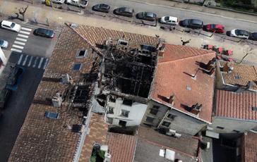 Incendie d'un immeuble à VIENNE (38)