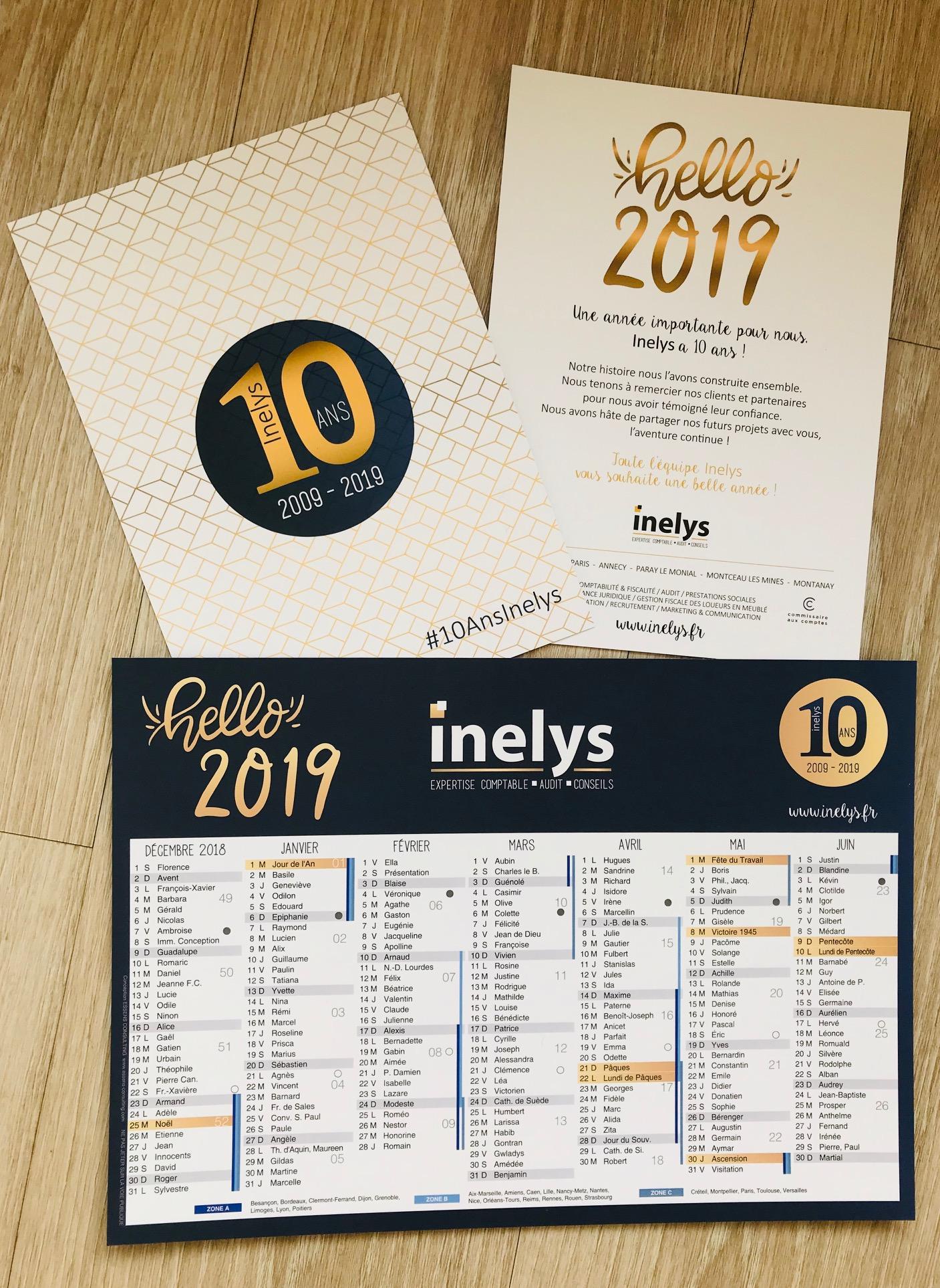Carte de voeux et calendrier INELYS