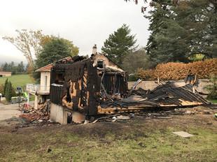 Incendie d'habitation à VAUGNERAY (69)