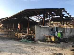 Incendie d'un hangar agricole à LA CÔTE-SAINT-ANDRÉ (38)