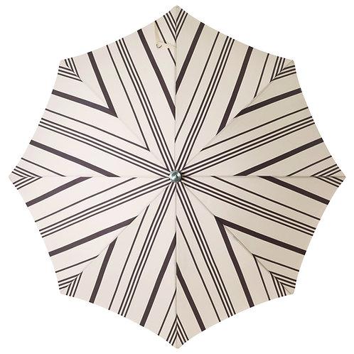 Parasol frangé Vintage black stripe