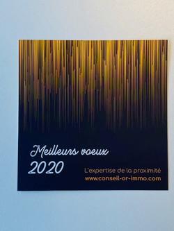 Vœux 2020 CONSEIL OR IMMOBILIER