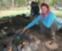 Karde Lagerfeuer Outdoorküche Bushcraft