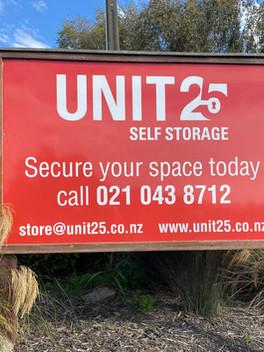 Unit 25 Signage
