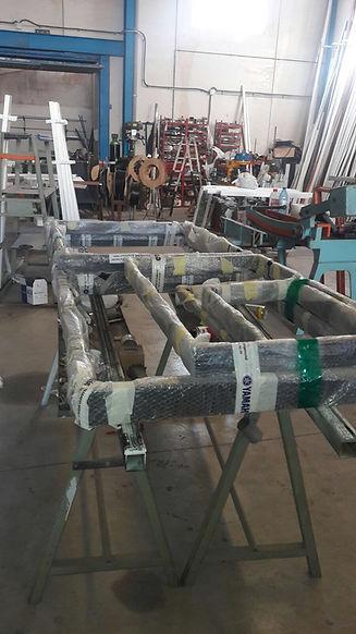 Stalen kozijnen verpakt in onze fabriek