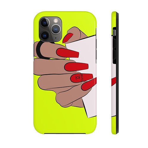 Red Nails - Neon Phone case